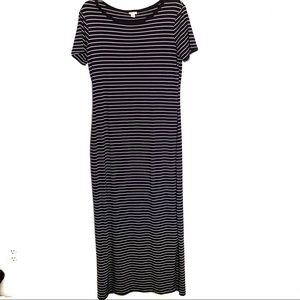 Merona Navy & White Striped Maxi Dress | M